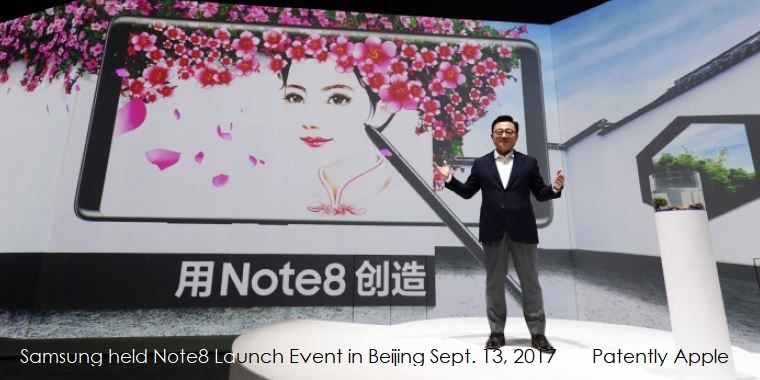 While Preorders for Apple's iPhone 8 in China reached over 4 Million, Samsung's Note 8 barely broke the 13,000 Mark