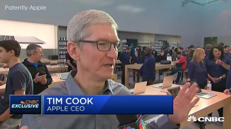 1af x99 apple CEO on iphone 8 debut in pal alto store