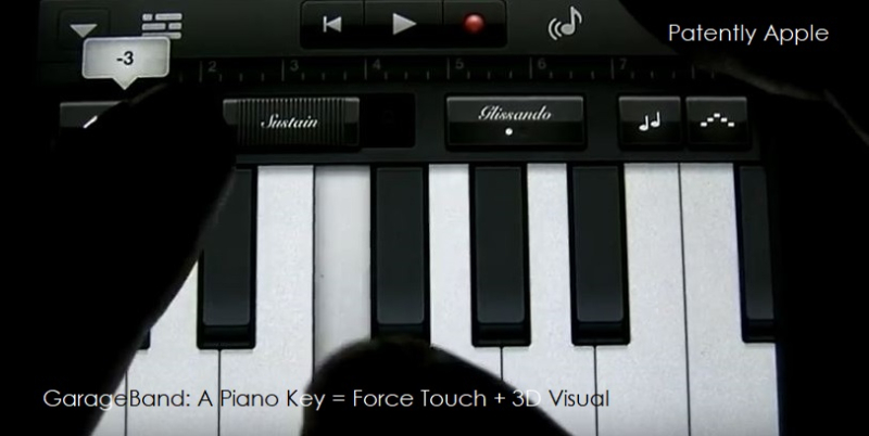 1 - TACTILE FEEDBACK WITH A 3D VISUAL LIKE A PIANO KEY BEING DEPRESSED