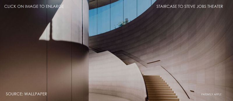 2X cover staircase to the Steve Jobs Theater