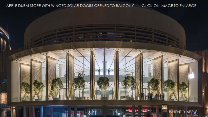 1F COVER -  dubai apple store WINGED DOORS OPENED