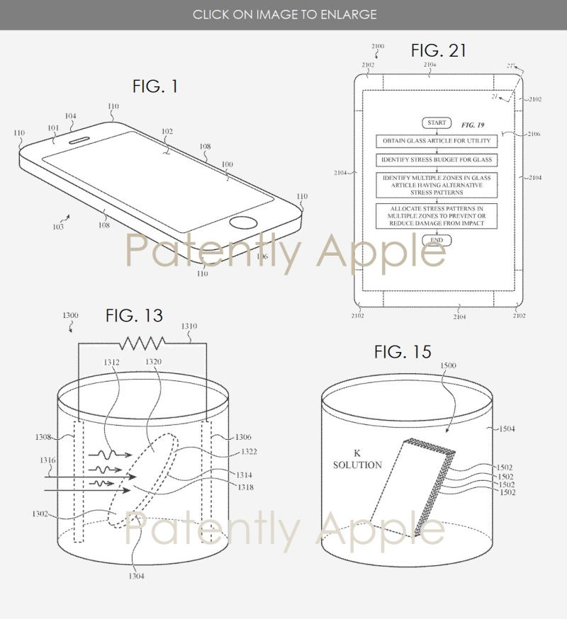 3 APPLE PATENT STRENGTHEN THIN COVER GLASS  PATENTLY APPLE NOV 2017