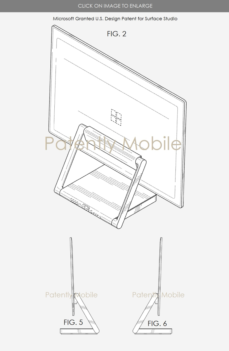 4 msft surface studio granted patent figs - Patently Mobile report