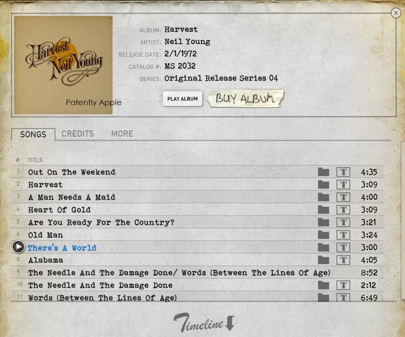 3 Neil Young  Harvest Album