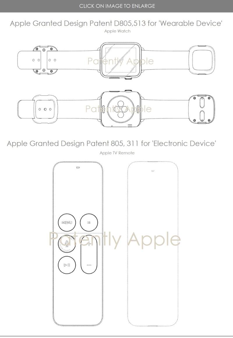 4 Apple design patents part 2  apple watch  apple tv remote