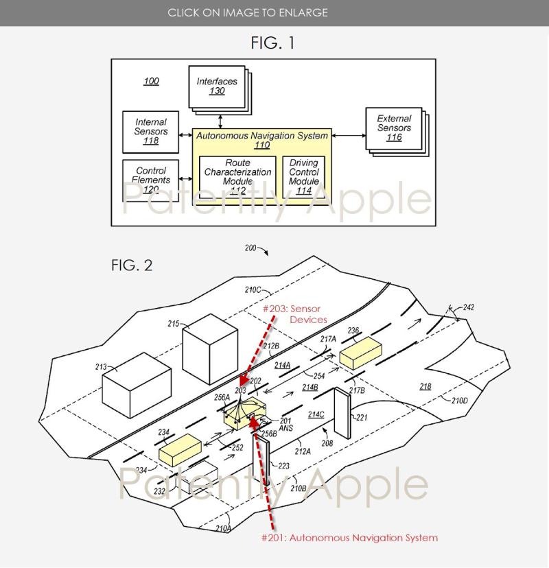 the first apple patent regarding autonomous vehicle