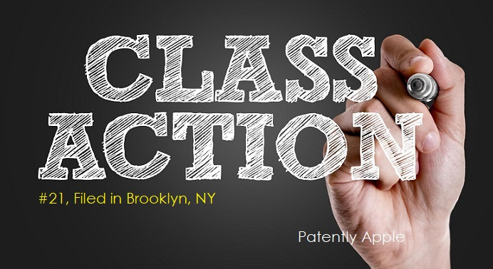 1 COVER  class action report - #21 FILED IN BROOKLYN NY JAN 2018 - PATENTLY APPLE