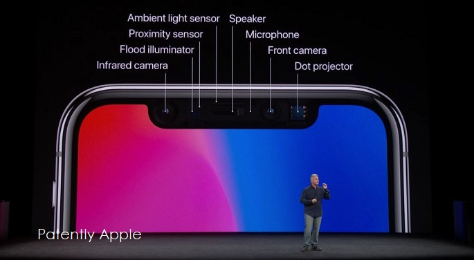 1 cover infrared camera  part of Face ID