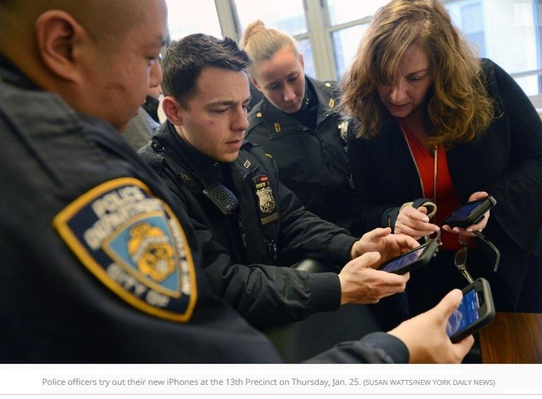 1 X cover new york cops try out new iPhones