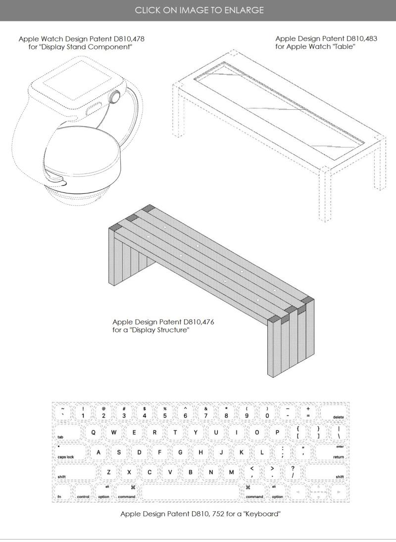 4 design patents for Feb 20  2018