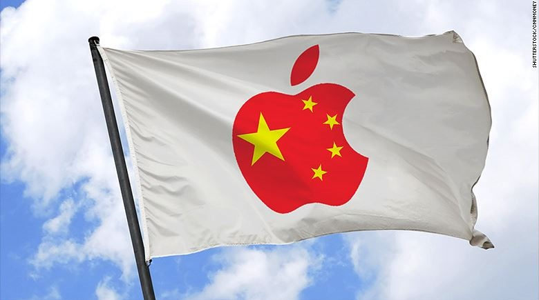 1 X cover Apple in China flag