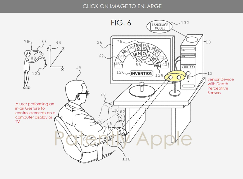 2 - X apple patent fig. 6 in-air gesture controls