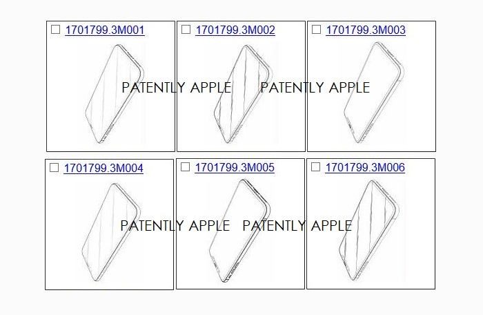 7 overview of apple iphone x design patents from Hong Kong
