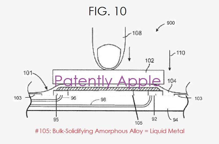 4 - Apple patent fig 10 liquid metal patent granted