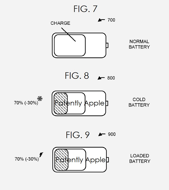 3 - Apple patent  FIGS 7  8 & 9  COLD BATTERY ETC