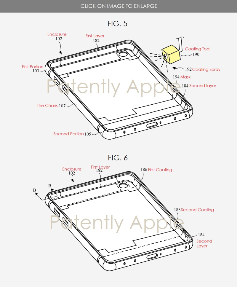 2 - Apple patent  Euro filing  liquid resistant coating FIGS 5 &  6