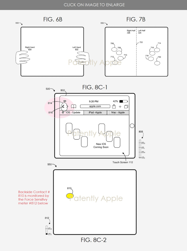apple patent envisions new backside force touch gestures for added idevice functionality