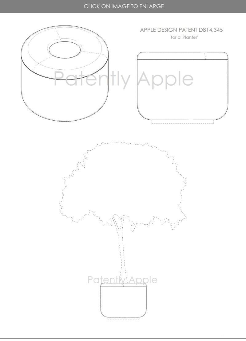 4 APPLE DESIGN PATENT D814  345