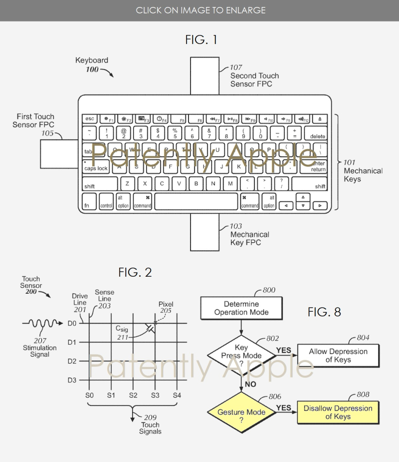 2 hybrid keyboard patent apple 2018