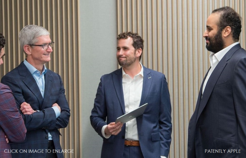 2 Saudi Crown Prince at HQ Apple Park with Tim Cook and team