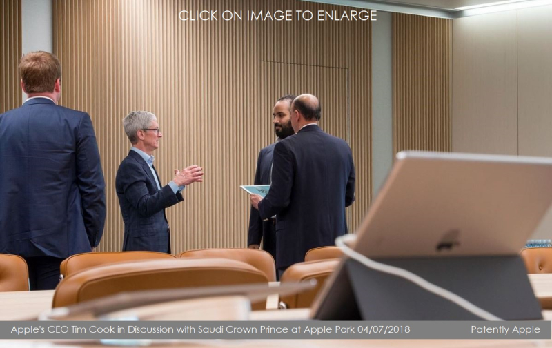 9 XA  TIM COOK WITH CROWN PRINCE SAUDI APRIL 7  2018