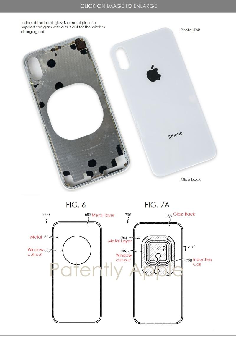 2 Apple iphone X body patent