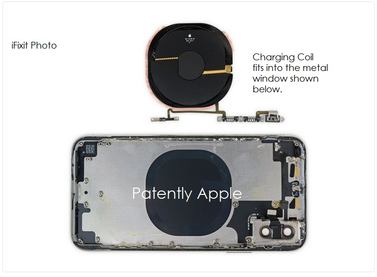 3 ifix photos support apple patent with coil fitting metal cut out on inside metal layer with glass backer