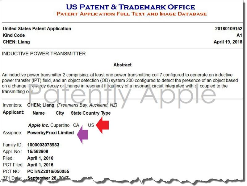 2 X PowerbyProxi patent  apple patent