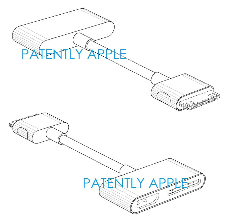 4AF APPLE DESIGN PATENT FOR CABLE CONNECTOR