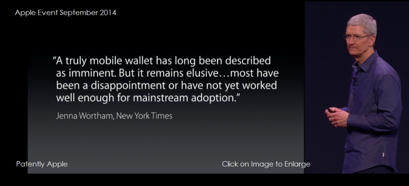 2af NYT quote at iPhone 6 Apple Pay segment event