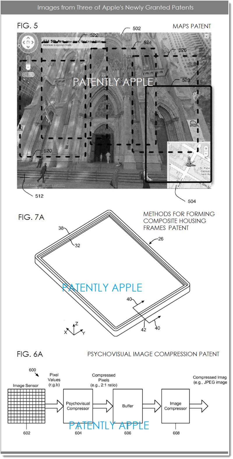 3AFF - APPLE GRANTED PATENTS - 3 PATENTS, 3 IMAGES
