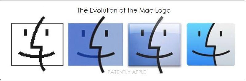 1AF2 - Mac OS Finder logo - evolution