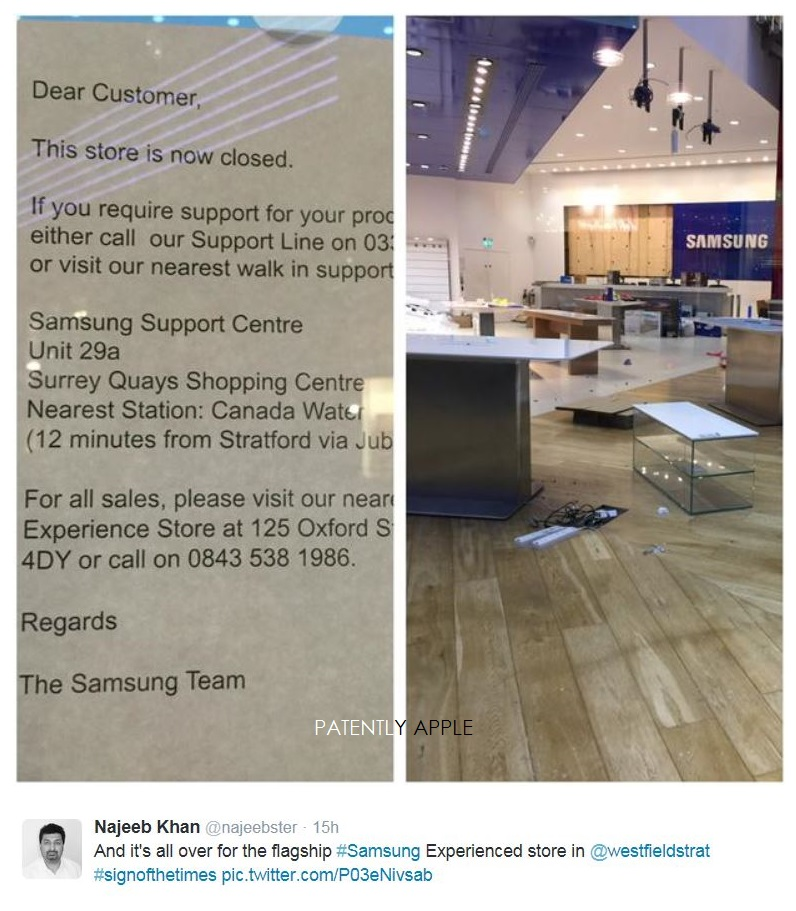 2AF - 3 - SAMSUNG CLOSES FLAGSHIP STORE IN UK