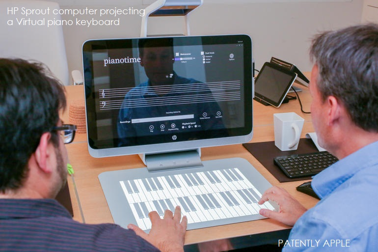 4 - hp-sprout virtual piano keyboard