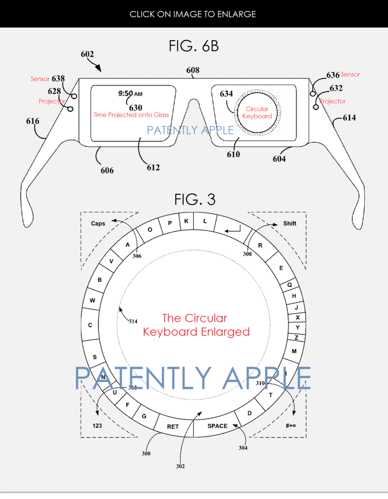 2AF GOOGLE GLASS - THE CIRCULAR KEYBOARD
