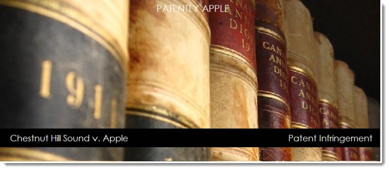 1af chestnut hill sound v. Apple patent infringement