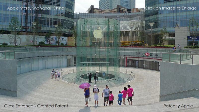 1AF 55 SHANGHAI APPLE STORE ENTRANCE OF GLASS