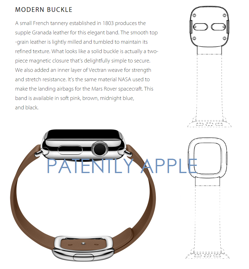 3AF 55 MODERN BUCKLE APPLE WATCH GRANTED DESIGN PATENT
