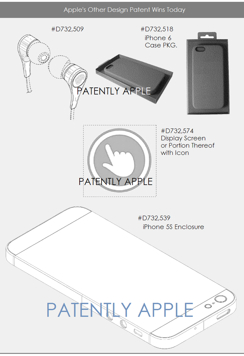 4AF 55 APPLE DESIGN PATENTS