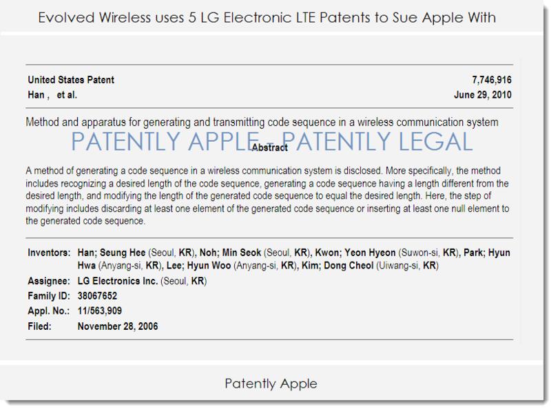 2af evolved wireless lg patents - infringement case against apple