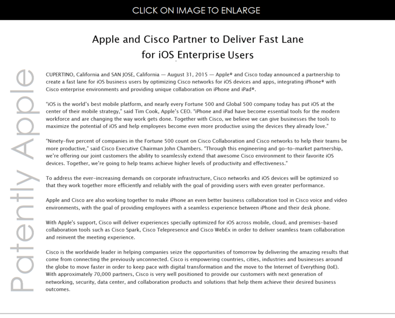 2AF APPLE CISCO PARTNERSHIP