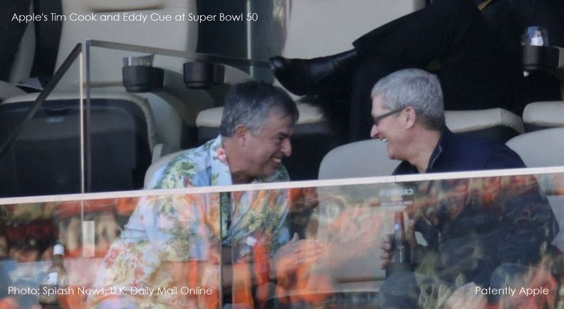 1 AF APPLE TIM COOK, EDDY CUE SUPER BOWL 50