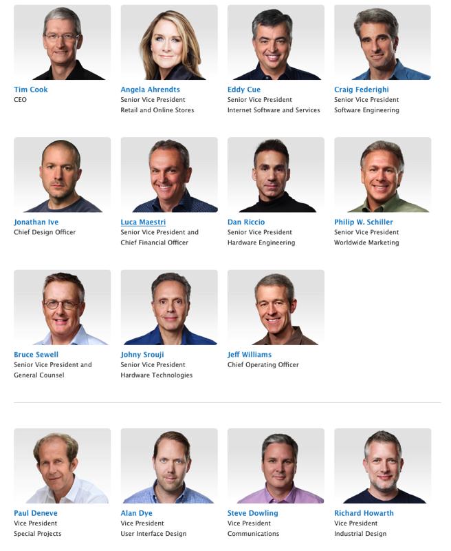 2AF apple senior management