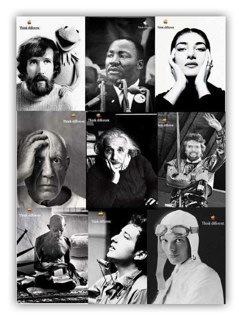4AF 88 THINK DIFFERENT POSTER COLLAGE