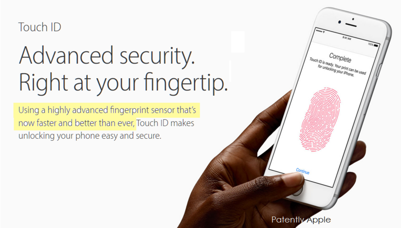 3AF 55 APPLE WEBPAGE - TOUCH ID FASTER