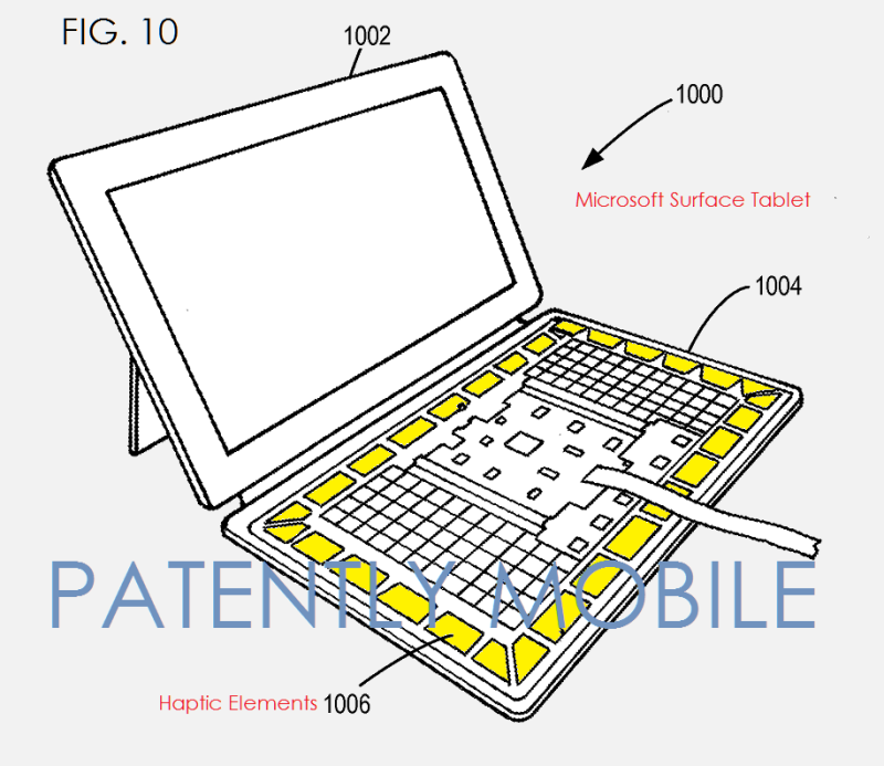 6AF 55 SURFACE TABLET  WITH ADDED HAPTIC ELEMENTS FOR KEYBOARD GAMING