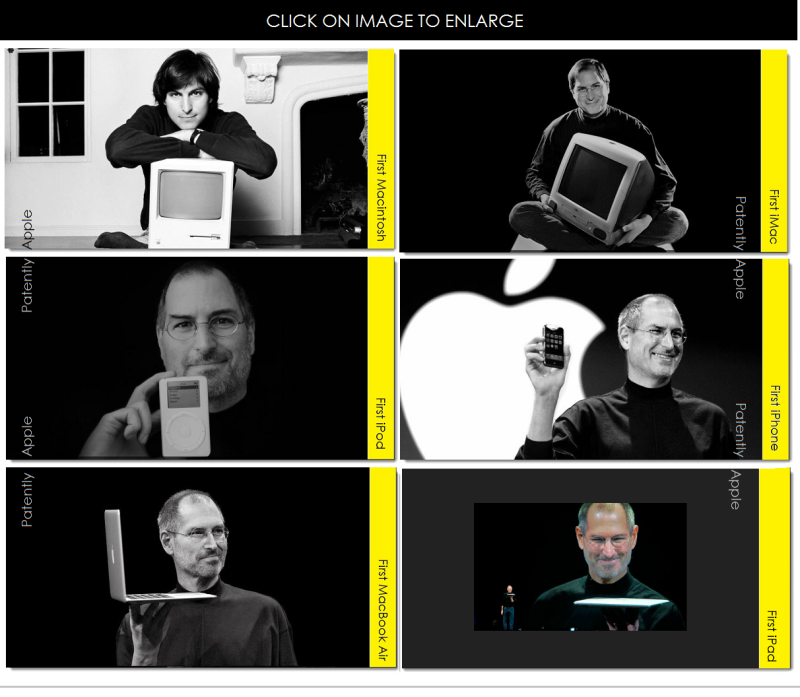 3AX 88 STEVE JOBS COLLAGE OF FIRSTS - PATENTLY APPLE
