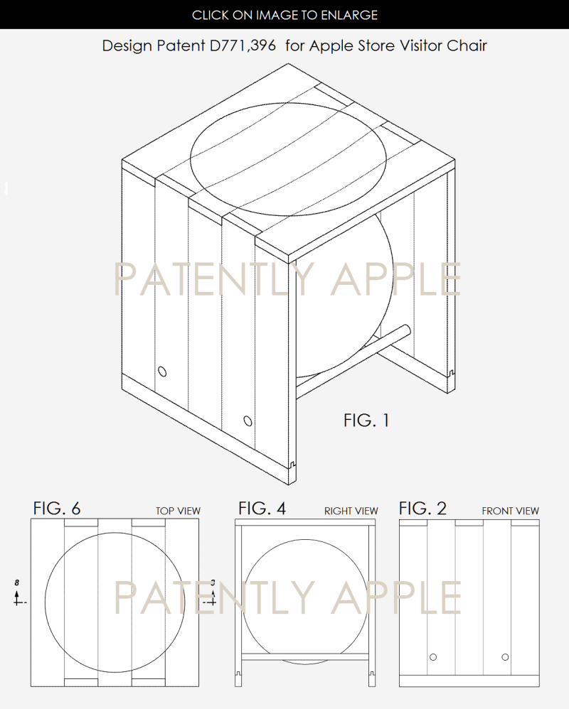 4AX 99 APPLE STORE CHAIR PATENT 396