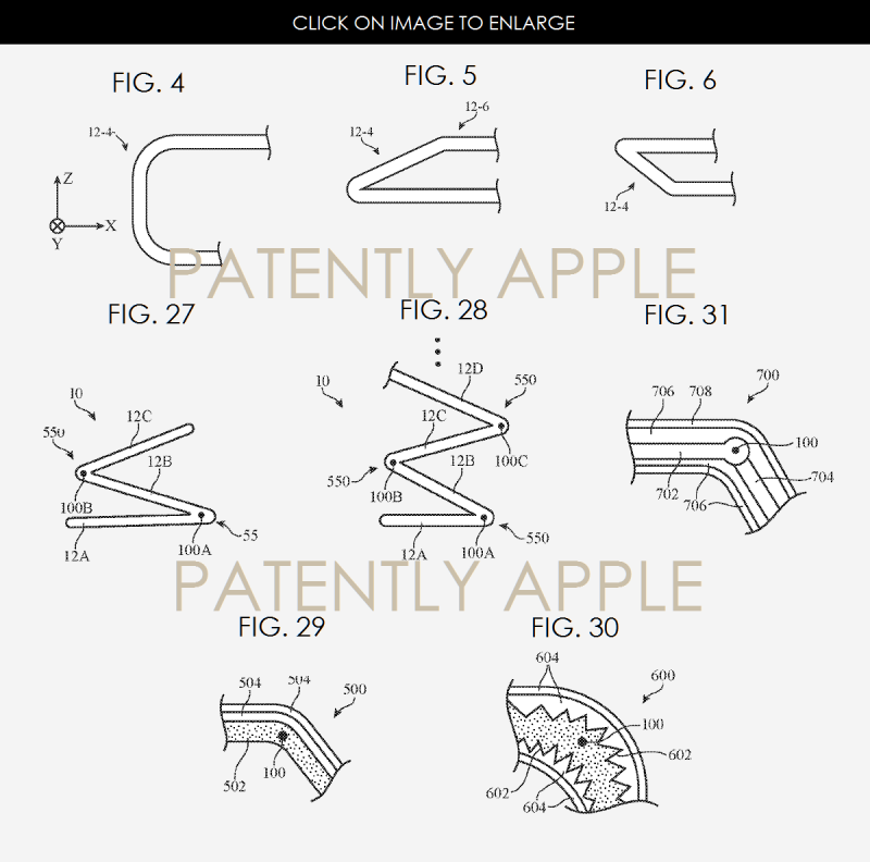 5AF 99 APPLE CUREVED FOLDED FLEXIBLE DISPLAYS PATENT DEC 8, 2016