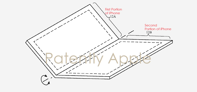 1AF 88X COVER FOLDABLE SMARTPHONE, APPLE PATENT